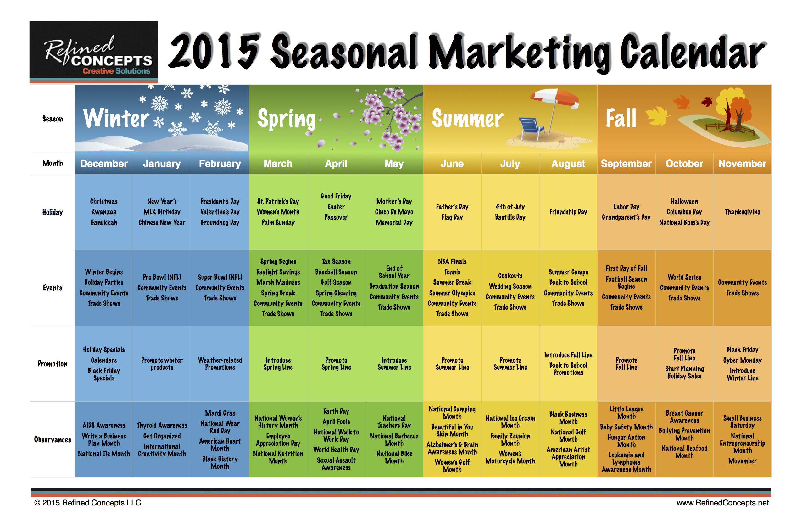 marketing campaign calendar template - should you use seasonal invoice template designs due